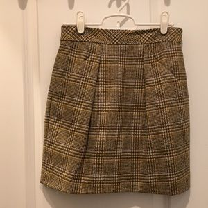 J. Crew Plaid wool skirt